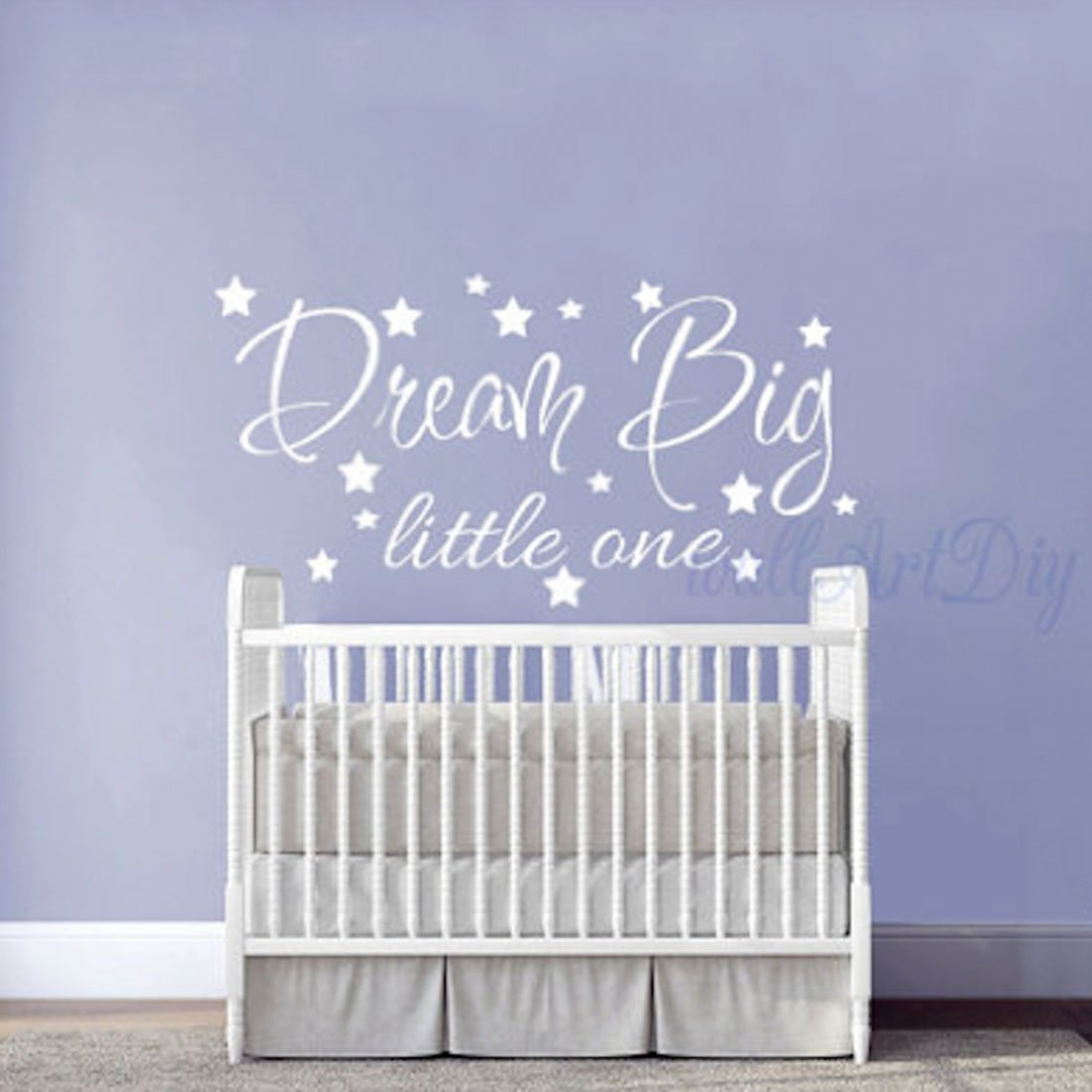 DREAM BIG LITTLE ONE WALL DECAL - WHITE