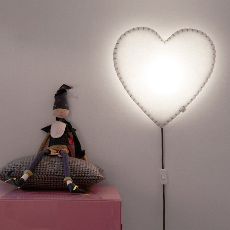 WALL LAMP HEART - PINK