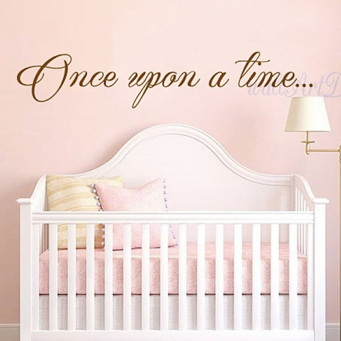 ONCE UPON A TIME WALL DECAL - GOLD