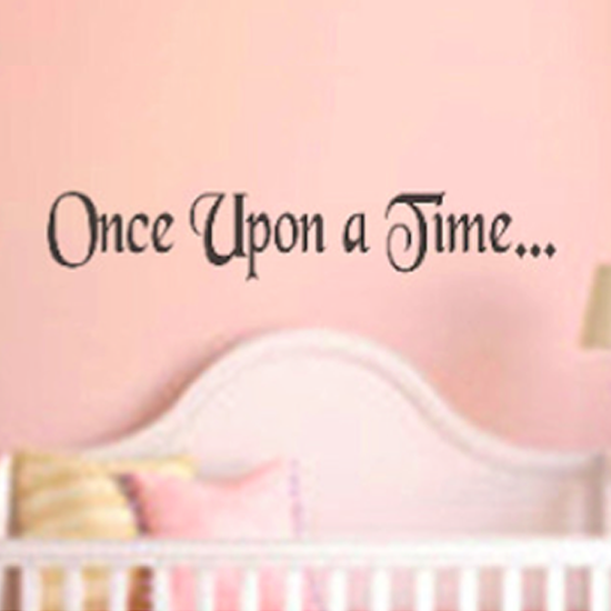 ONCE UPON A TIME WALL DECAL - GREY