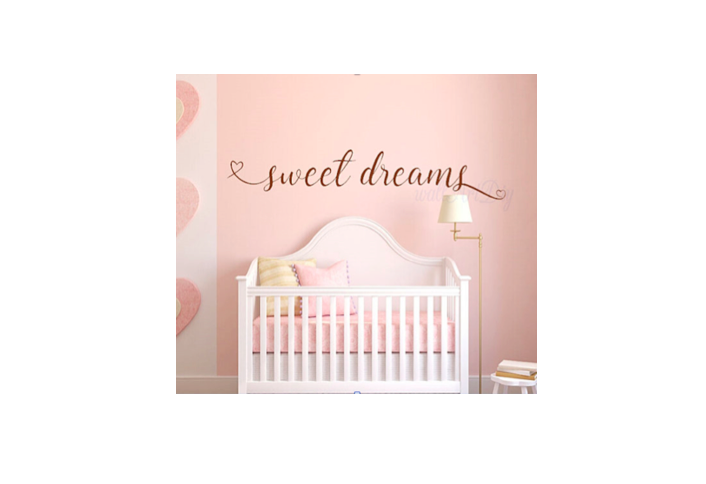 GOLD SWEET DREAMS WALL DECAL