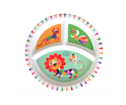 MELAMINE PLATE DIVIDER LION & FRIENDS