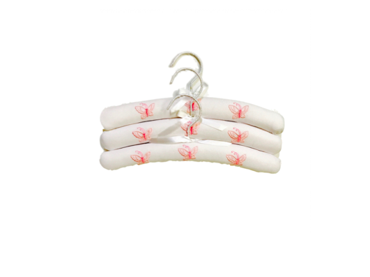 BUTTERFLY PADDED HANGERS - SET OF THREE