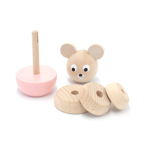 BLOSSOM - Wooden Bear Stacking Puzzle Toy - Honey Tree Baby | Children's Toys | Teethers | Handmade Gift | Decor