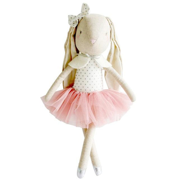 Alimrose Designs BELLA BALLET BUNNY - Silver Blush - Honey Tree Baby | Children's Toys | Teethers | Handmade Gift | Decor