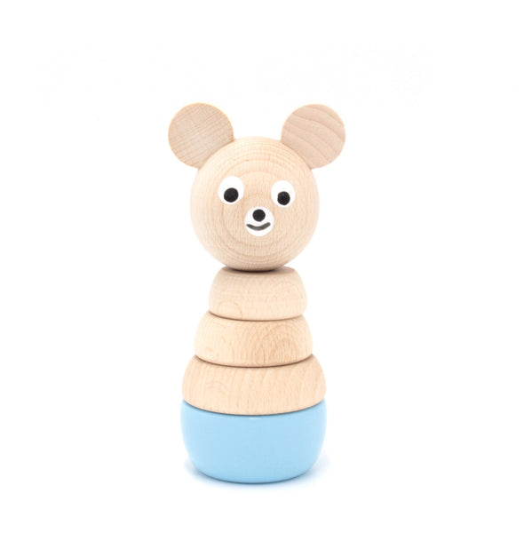 CHESTER - Wooden Bear Stacking Puzzle Toy - Honey Tree Baby | Children's Toys | Teethers | Handmade Gift | Decor