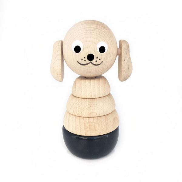 CHARLIE - Wooden Puppy Stacking Puzzle Toy - Honey Tree Baby | Children's Toys | Teethers | Handmade Gift | Decor