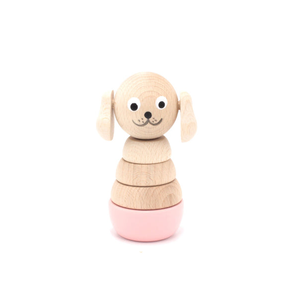 CHARLOTTE - Wooden Puppy Stacking Puzzle Toy - Honey Tree Baby | Children's Toys | Teethers | Handmade Gift | Decor