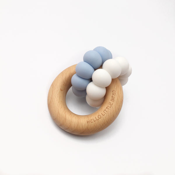 DUO Teether Baby Blue - Honey Tree Baby | Children's Toys | Teethers | Handmade Gift | Decor