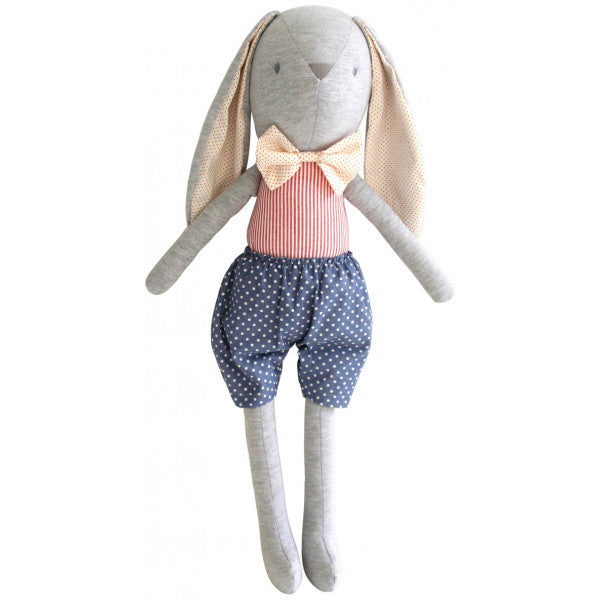 "Alimrose LOUIE BUNNY ""Dress Me"" Cuddle Toy - French Blue (55cm) - Honey Tree Baby 