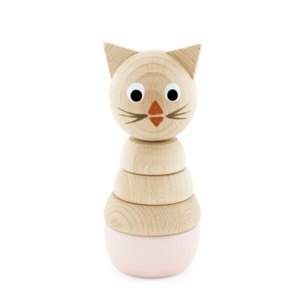 VICTORIA - Wooden Cat Stacking Puzzle Toy - Honey Tree Baby | Children's Toys | Teethers | Handmade Gift | Decor