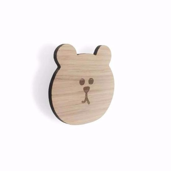 BEAR FACE WALL HOOK - OAK - Honey Tree Baby | Children's Toys | Teethers | Handmade Gift | Decor