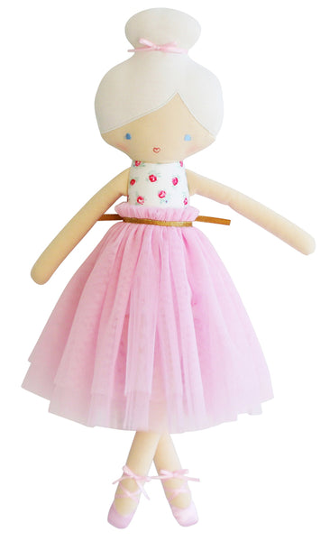 Alimrose Designs AMELIE BALLET DOLL - Pink Roses - Honey Tree Baby | Children's Toys | Teethers | Handmade Gift | Decor