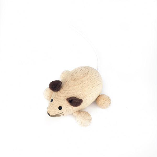 POPPY - Wooden Push Along Mouse - Honey Tree Baby | Children's Toys | Teethers | Handmade Gift | Decor