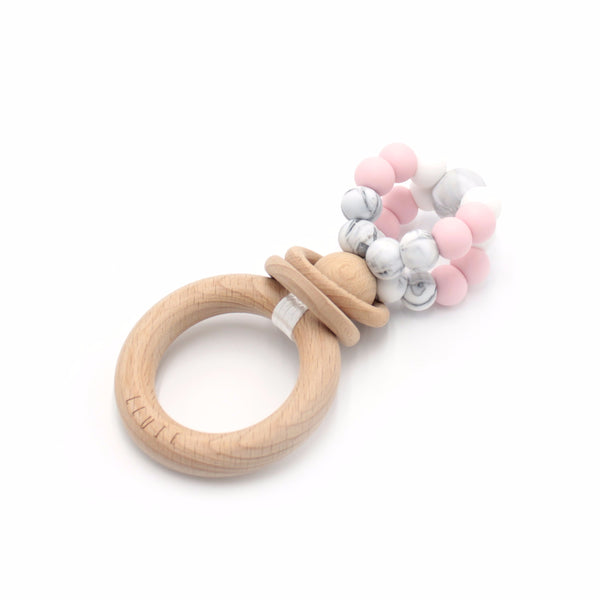 RING POP Teething Rattle Baby Pink - Honey Tree Baby | Children's Toys | Teethers | Handmade Gift | Decor