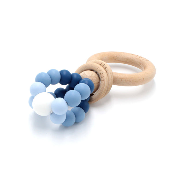 RING POP Teething Rattle Blue Ombré