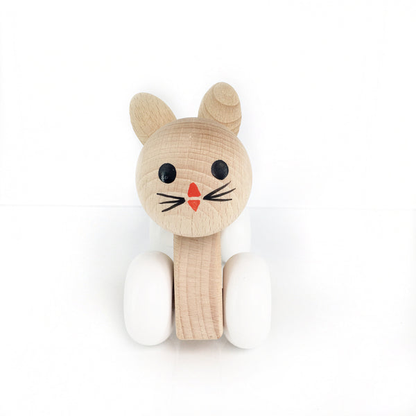 ROSIE - Wooden Push Along Bunny Rabbit - Honey Tree Baby | Children's Toys | Teethers | Handmade Gift | Decor