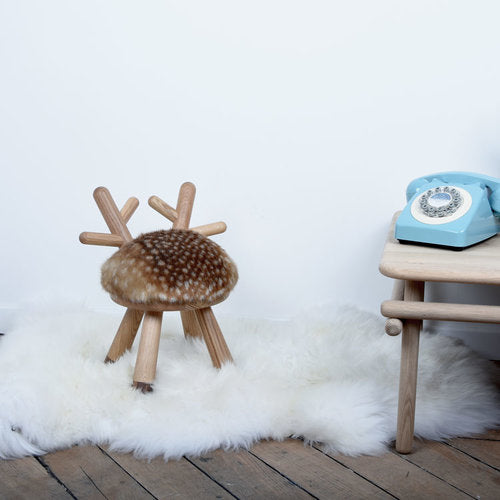 Faux Fur BAMBI CHAIR by Elements Optimal - Honey Tree Baby | Children's Toys | Teethers | Handmade Gift | Decor