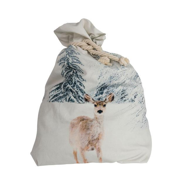Down To The Woods, Santa Sack Snow Fawn - Honey Tree Baby | Children's Toys | Teethers | Handmade Gift | Decor