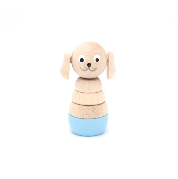 FELIX - Wooden Puppy Stacking Puzzle Toy - Honey Tree Baby | Children's Toys | Teethers | Handmade Gift | Decor