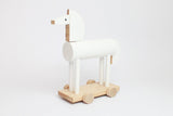 ORTUS - Wooden Push Along Horse (WHITE) - Honey Tree Baby | Children's Toys | Teethers | Handmade Gift | Decor