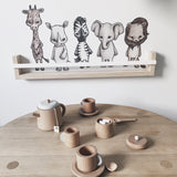 Wooden Tea Set - Honey Tree Baby | Children's Toys | Teethers | Handmade Gift | Decor