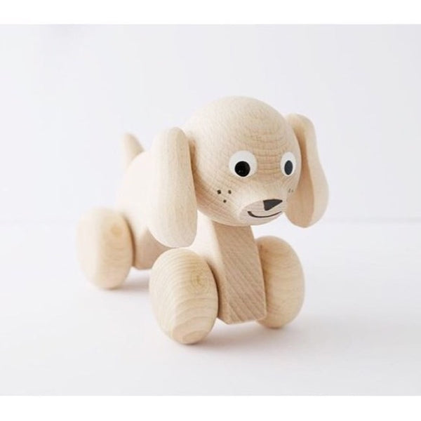 BEAU - Wooden Push Along Puppy Dog - Honey Tree Baby | Children's Toys | Teethers | Handmade Gift | Decor