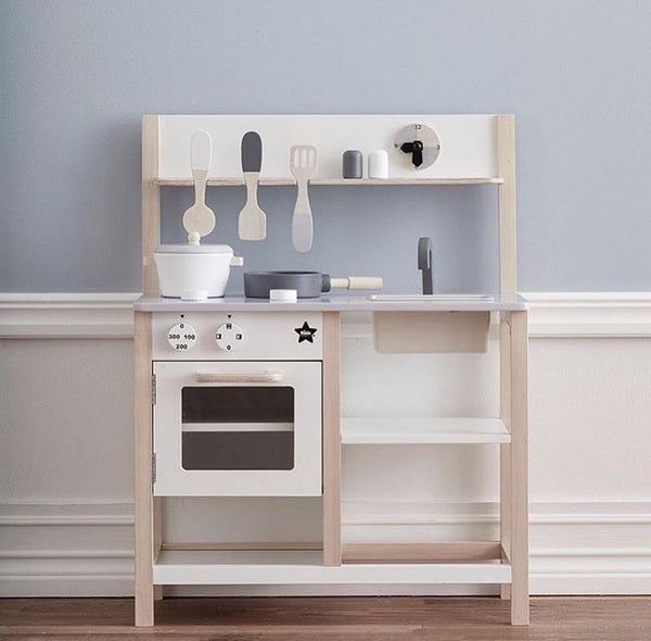 Kids Concept Play Kitchen White / Natural