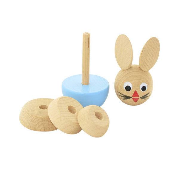 BILLY - Wooden Rabbit Stacking Puzzle Toy - Honey Tree Baby | Children's Toys | Teethers | Handmade Gift | Decor
