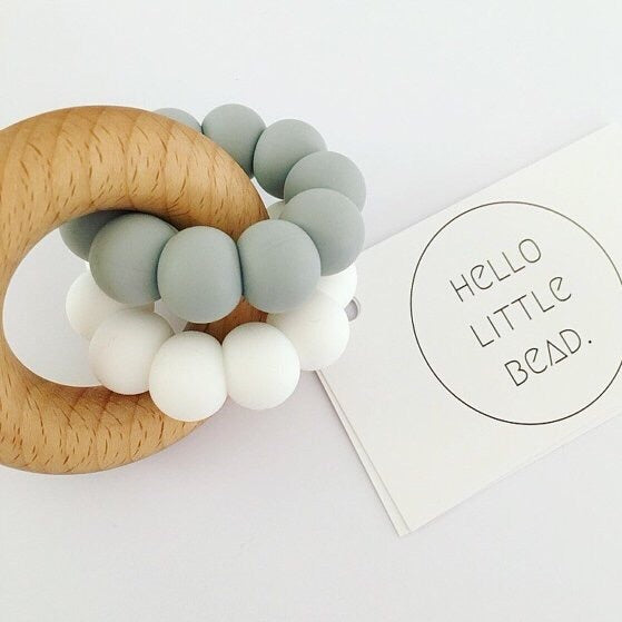 DUO Teether Grey - Honey Tree Baby | Children's Toys | Teethers | Handmade Gift | Decor