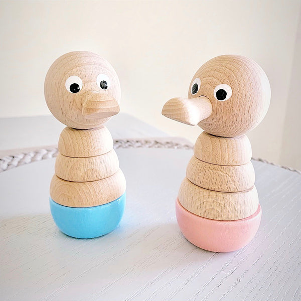 EVIE - Wooden Duck Stacking Puzzle Toy - Honey Tree Baby | Children's Toys | Teethers | Handmade Gift | Decor
