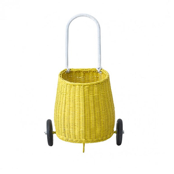 Olli Ella LUGGY BASKET - Yellow - Honey Tree Baby | Children's Toys | Teethers | Handmade Gift | Decor