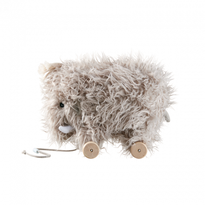 WOOLY MAMMOTH Pull Along Toy - Honey Tree Baby | Children's Toys | Teethers | Handmade Gift | Decor