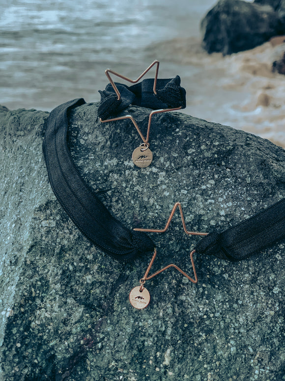 Star Choker & Bracelet Set - Black