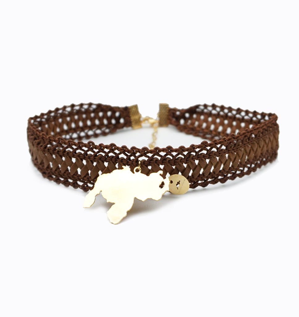 Brown Knit Choker - Venezuela
