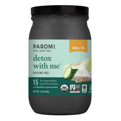 Organic Detox With Me Herbal Tea, Caffeine Free, in Pyramid Tea Bags