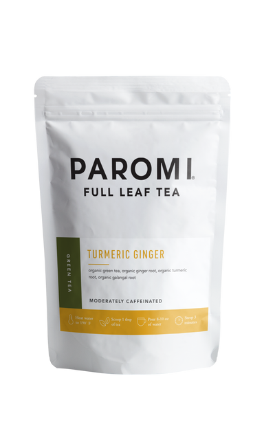 Turmeric Ginger Green Tea, Full Leaf, Light Caffeine, Loose Tea, 2 oz (18 servings)