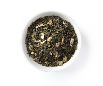 Ginger Pear Green Tea, Full Leaf, Light Caffeine, Loose Tea, 2 oz (18 servings)