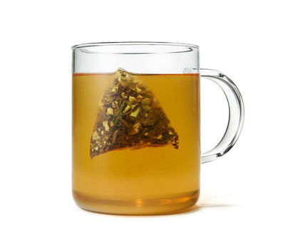 Organic Lemon Ginger Oolong Tea, Full Leaf, in Pyramid Tea Bags