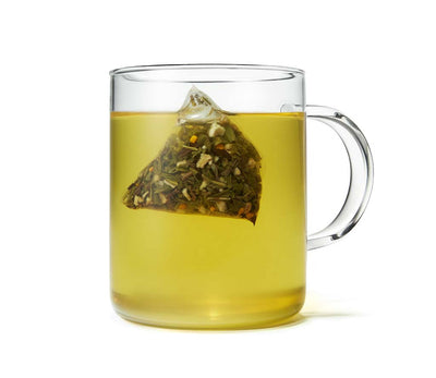 Organic Turmeric Ginger Green Tea, Full Leaf, in Pyramid Tea Bags
