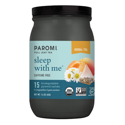 Organic Sleep With Me Herbal Tea, Botanical Blend, Caffeine Free, Non-GMO, Gluten Free, Kosher - Pyramid Tea Bags