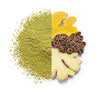 Organic Matcha With Turmeric, Ginger and Cinnamon, Stone Ground Japanese Tencha Green Tea, 1.23 oz (18 servings)