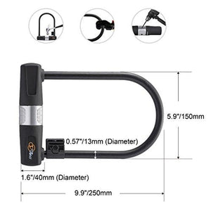 Bike Cable Lock - Heavy Duty Bicycle U-Lock - ukviavelo