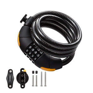 Combination Cable Lock – Combination U Lock with 4-Feet Bike Cable Basic - ukviavelo