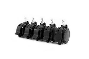 ACCESSORIES: Standard Wheels With Lock for Replacement - Black (Set of 5)