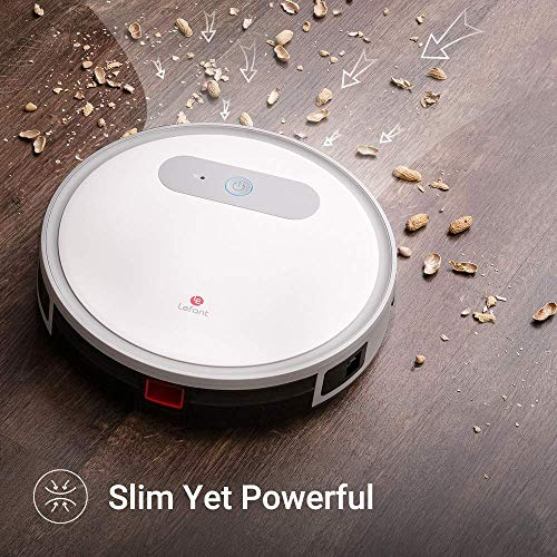 Lefant Robot Vacuum and Mop, M501-A Robotic Vacuums Cleaner, Wi-Fi Connectivity, 2000Pa Power Suction, Compatible with Alexa and Google, Self Charging, Pet Hair, Medium-Pile Carpets and Hardwood Floor