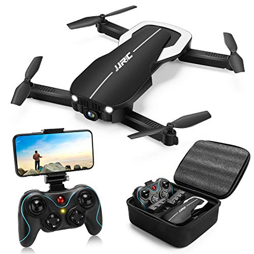 Drones with 1080P HD Camera for Beginners,JJRC H71 Foldable Drone with Optical Flow Positioning, FPV WiFi Live Video Quadcopter for Adults,22mins Long Flight Time Rc Drone with 2 Batteries(Black)