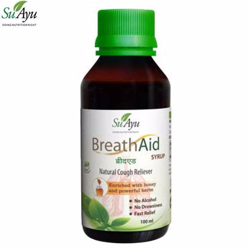 100% Ayurvedic Natural SuAyu BreathAid Syrup For Cough and Cold Available