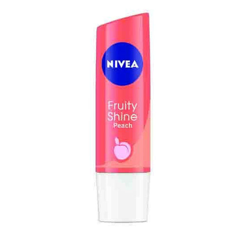 Nivea Fruity Shine Lip Balm-Peach-4.8 Gms For Women