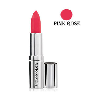 Urban Color Crème Glam Lipstick With Sun Protection- Pink Rose - 4.2g